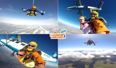 Salto Tandem in Evora at 3000m or 4200m of Altitude