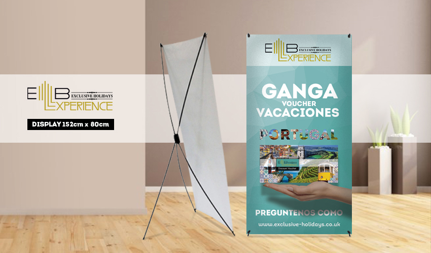 PVC Banner + X-BANNER 152 cm x 80 cm